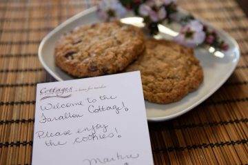 Cookies and a hand written note