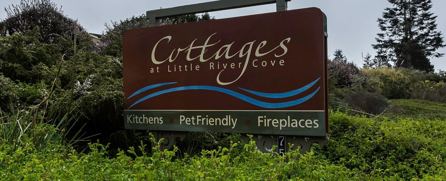 Cottages at Little River Cove Street Sign
