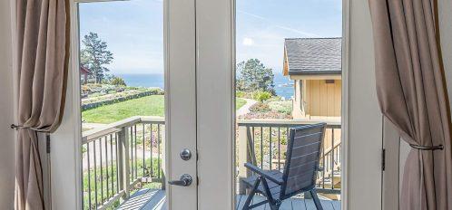 Humboldt room's deck door