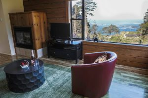 elk cottage, chair, rug, window, ocean views